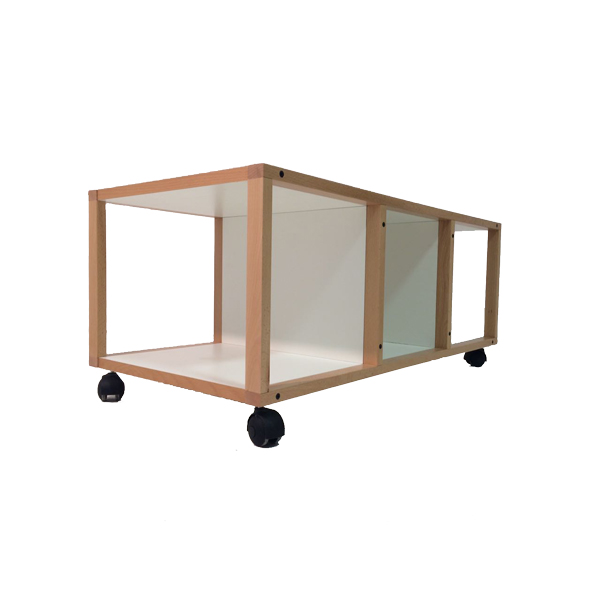 Carrello porta tv, tre vani, porta tv, nobilitato mdf